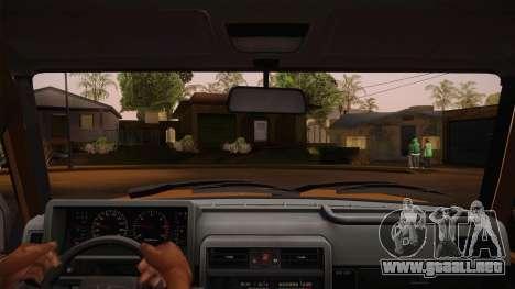 Nissan Patrol Y60 para visión interna GTA San Andreas