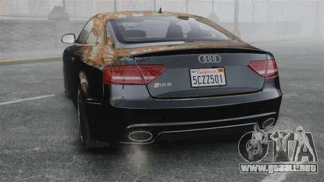 Audi RS5 2011 v2.0 para GTA 4 Vista posterior izquierda