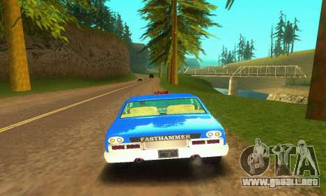 Fasthammer Taxi para GTA San Andreas vista hacia atrás
