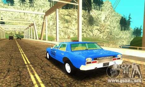 Fasthammer Taxi para GTA San Andreas vista posterior izquierda
