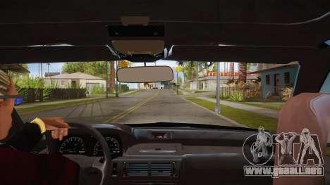 El guión de CLEO: vista desde la cabina para GTA San Andreas