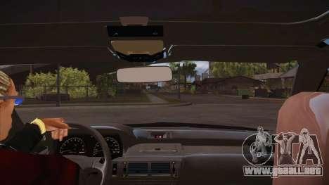 El guión de CLEO: vista desde la cabina para GTA San Andreas tercera pantalla
