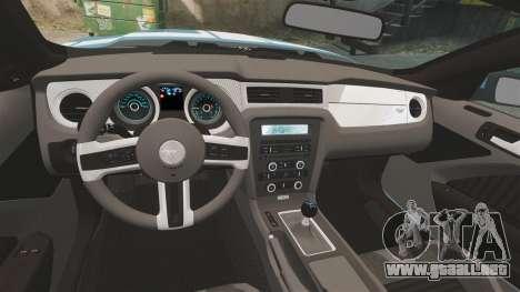Ford Mustang BOSS 2013 para GTA 4 vista hacia atrás
