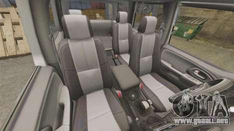 Chevrolet TrailBlazer SS 2008 para GTA 4 vista lateral