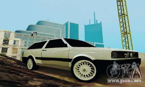 VW Parati GLS 1988 para GTA San Andreas vista hacia atrás