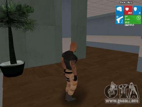 Luke Hobbs de rápido y furioso 5 para GTA San Andreas segunda pantalla