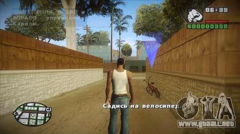 GTA HD mod 2.0 para GTA San Andreas sucesivamente de pantalla