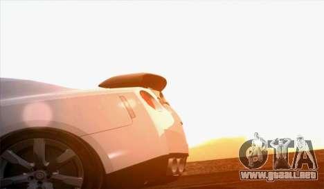 Nissan GT-R Carbon para GTA San Andreas vista posterior izquierda