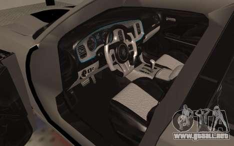 Dodge Charger Super Bee para GTA San Andreas vista hacia atrás