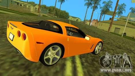 Chevrolet Corvette C6 para GTA Vice City visión correcta