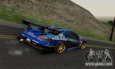 Nissan Silvia S15 Toyo Drift para GTA San Andreas vista hacia atrás