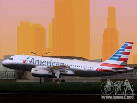Airbus A319-112 American Airlines para la visión correcta GTA San Andreas