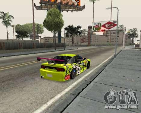 Nissan 240sx Drift para la visión correcta GTA San Andreas