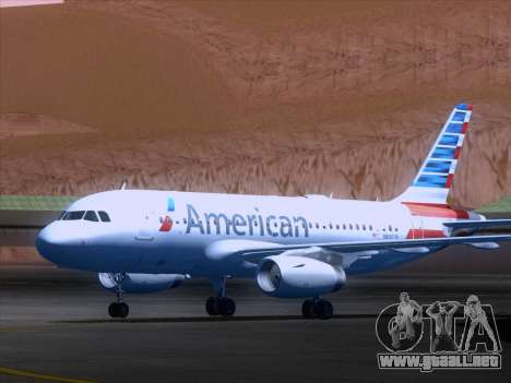 Airbus A319-112 American Airlines para GTA San Andreas left