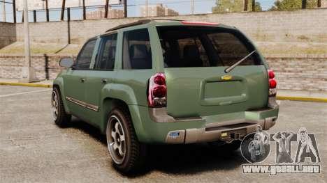 Chevrolet TrailBlazer SS 2008 para GTA 4 Vista posterior izquierda