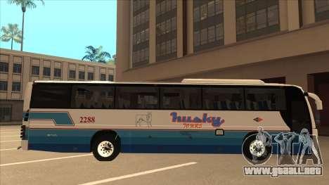 Husky Tours 2288 para GTA San Andreas vista posterior izquierda