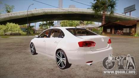 VW Jetta GLI 2013 para GTA San Andreas vista posterior izquierda