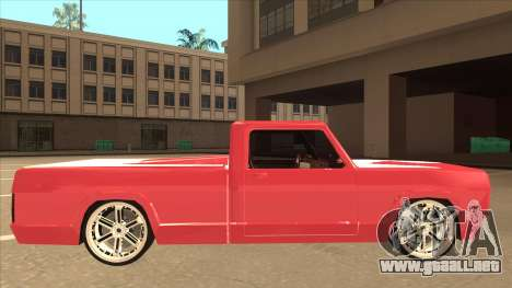 Modified Sadler para GTA San Andreas vista posterior izquierda