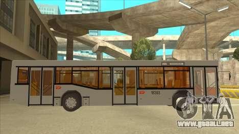 511 Sremcica Bus para GTA San Andreas vista posterior izquierda