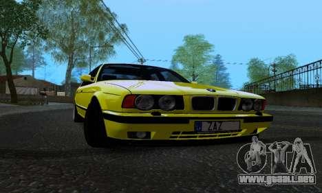 BMW M5 E34 IVLM v2.0.2 para visión interna GTA San Andreas