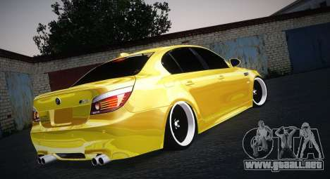 BMW M5 Gold para GTA San Andreas left