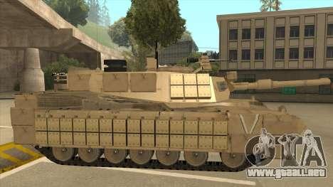 M69A2 Rhino Desierto para GTA San Andreas vista posterior izquierda