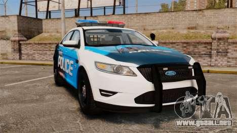 Ford Taurus 2010 Police Interceptor Detroit para GTA 4