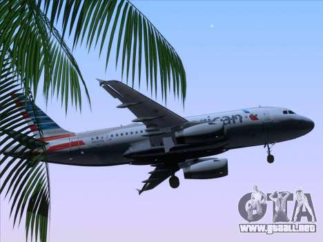 Airbus A319-112 American Airlines para la vista superior GTA San Andreas