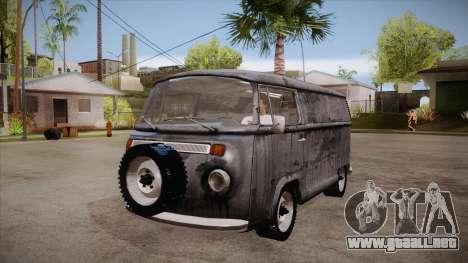 Volkswagen Transporter T2 Custom para visión interna GTA San Andreas