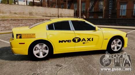 Dodge Charger 2011 Taxi para GTA 4 left