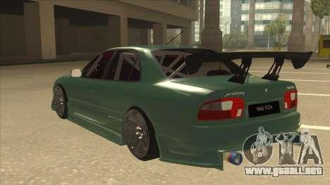 Proton Wira with s15 front end para GTA San Andreas vista hacia atrás