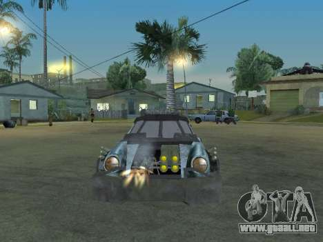 Porsche 911 Death Race para GTA San Andreas vista hacia atrás