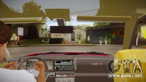 Lancia Delta Integrale EVO-2 para visión interna GTA San Andreas