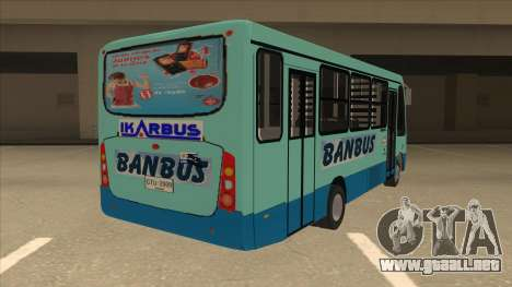 BANBUS Bus Srb. para la visión correcta GTA San Andreas