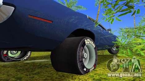 Plymouth Barracuda Supercharger para GTA Vice City vista superior