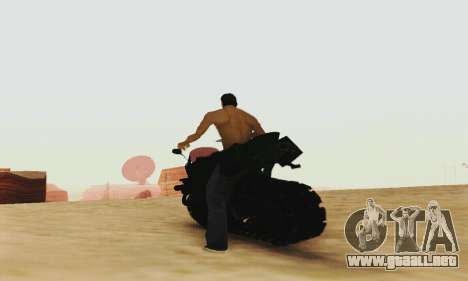 Mercenaries 2 Panzercycle para GTA San Andreas vista hacia atrás