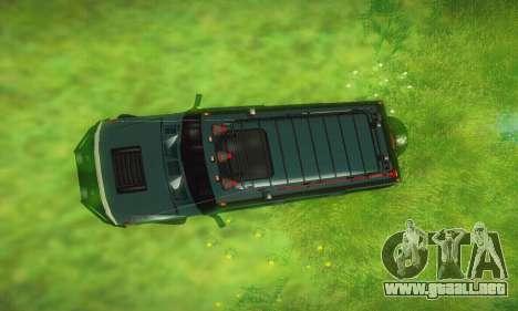 Hummer H2 Monster para vista lateral GTA San Andreas