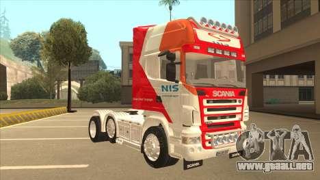 Scania R620 Nis Kamion para GTA San Andreas left