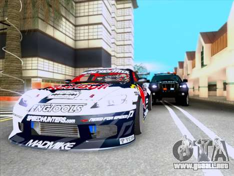 Mazda RX-8 NFS Team Mad Mike para GTA San Andreas vista hacia atrás