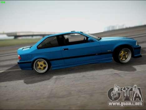 BMW M3 E36 Stance para GTA San Andreas vista posterior izquierda