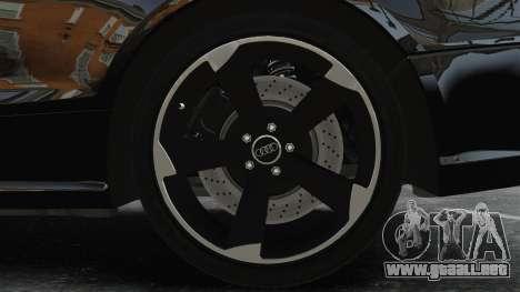 Audi RS5 2011 v2.0 para GTA 4 vista hacia atrás