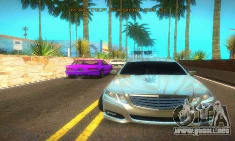 Mercedes-Benz E350 Wagon para GTA San Andreas vista posterior izquierda
