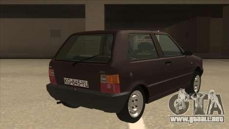 Yugo Uno 45 R 1994 para la visión correcta GTA San Andreas