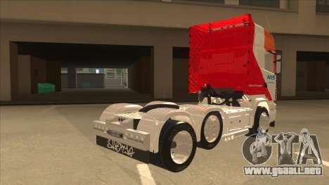 Scania R620 Nis Kamion para la visión correcta GTA San Andreas