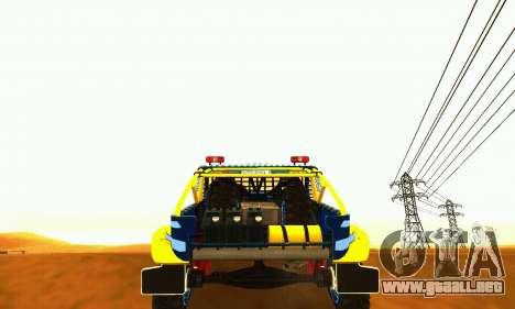 Rally de UAZ 31514 para GTA San Andreas vista hacia atrás