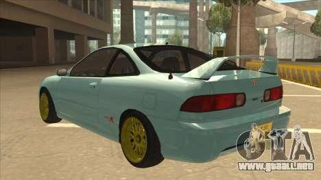Honda Integra JDM Version para GTA San Andreas vista posterior izquierda
