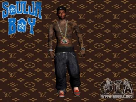 Soulja Boy skin para GTA San Andreas