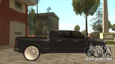 Dodge Ram Laramie Low para GTA San Andreas vista posterior izquierda