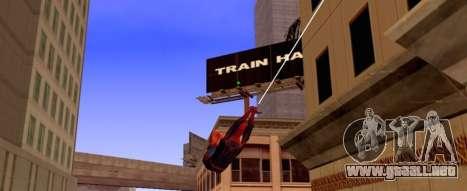 Hombre araña está volando en la Web para GTA San Andreas segunda pantalla