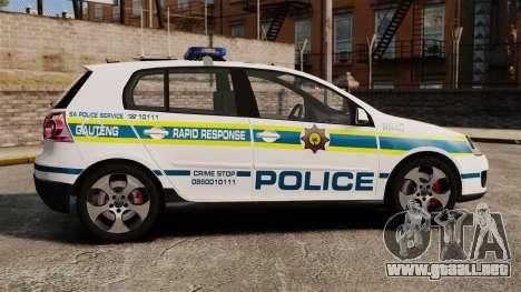Volkswagen Golf 5 GTI Police v2.0 [ELS] para GTA 4 left